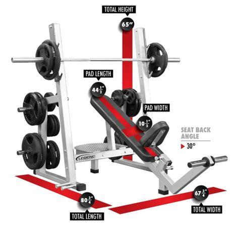 gold s gym pro series weight bench pro series olympic incline bench press w band pegs