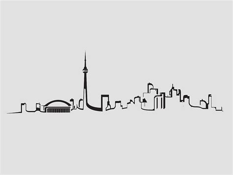 Black And Red Duvet Cover Quot Toronto Skyline Outline Quot By Yourstrulyali Redbubble