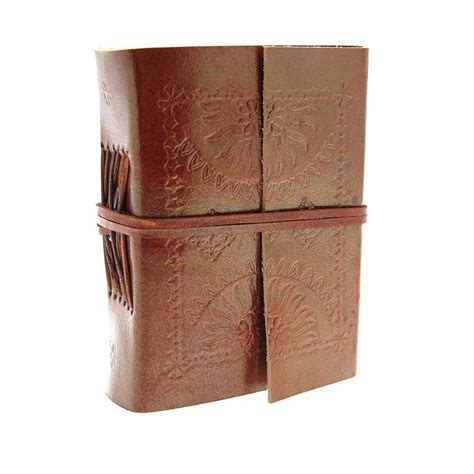 Handmade Leather Embossed Journals - handmade embossed leather journals by paper high