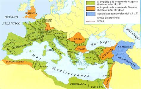 historia antigua en roma mapa