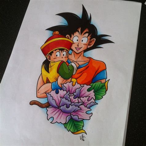 gohan and goku tattoo design by hamdoggz on deviantart