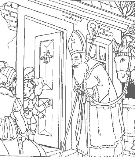saint nicholas printable coloring pages