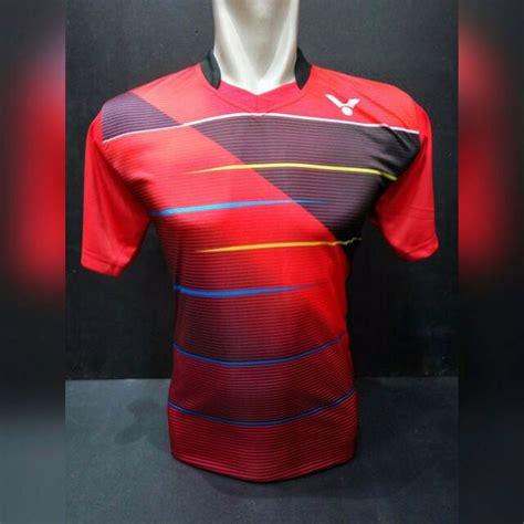 Kaos Badminton Victor V 40b jual baju kaos badminton bulutangkis victor v16 merah di