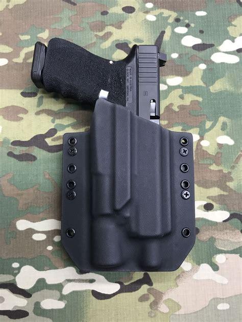kydex holster for glock 19 with light black kydex light holster glock 19 23 32 threaded barrel