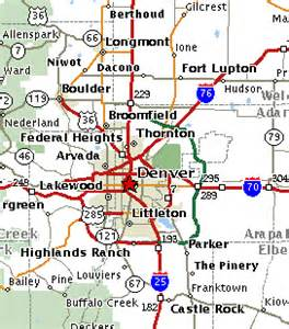 map of colorado cities near denver map colorado