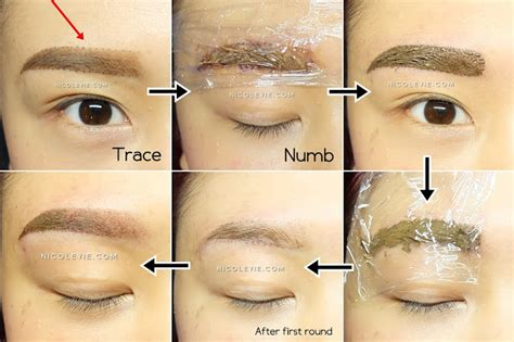 process of tattoo eyebrows permanent makeup mist eyebrow by e image aesthetic