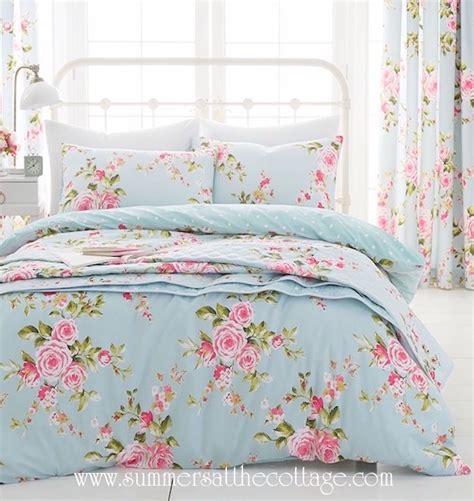 shabby chic cottage bedding shabby house blue pink roses chic duvet cover set