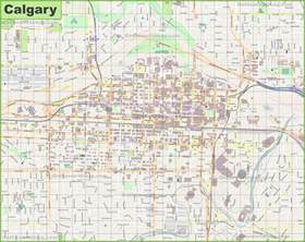 map of canada calgary large detailed map of calgary