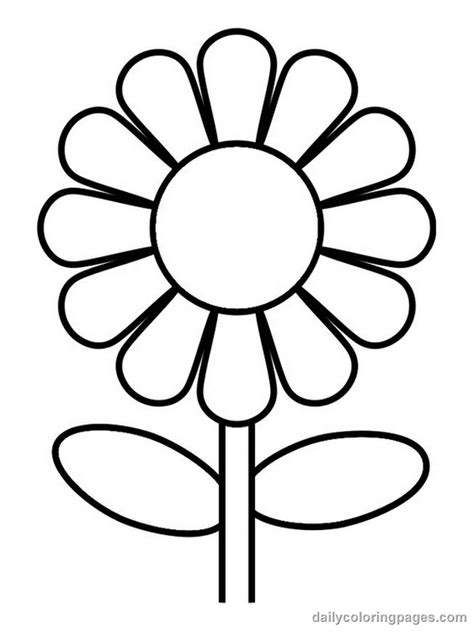 how to color flowers coloring flower pictures flower coloring page