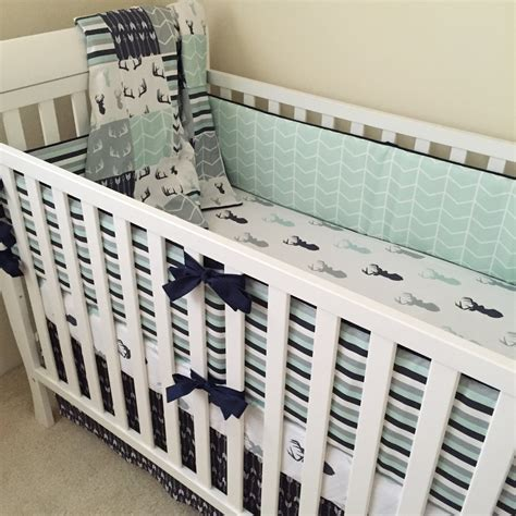 Pahe Set Baby Collection deer crib bedding boy crib bedding woodland baby bedding
