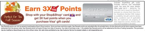 Stop And Shop Gift Cards Gas Points - 3x gas rewards on visa gift card purchase at stop and shop ways to save money when