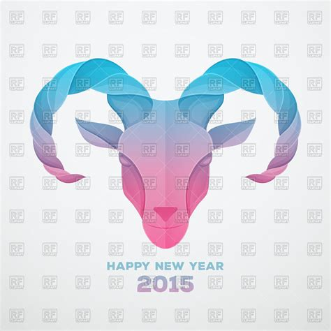 free new year goat 2015 the goat symbol of a new 2015 year royalty free