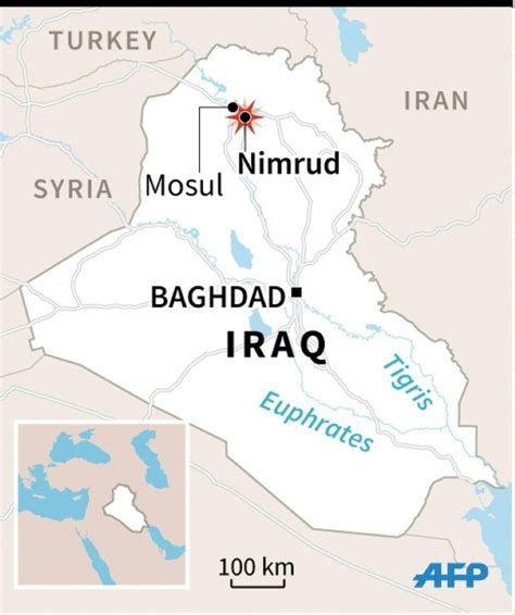 map of iraq and surrounding area iraqi forces say recapture ancient city of nimrud daily