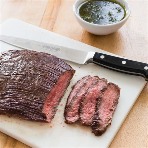 paleo seared flank steak with chimichurri sauce america