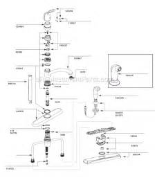 moen kitchen faucet repair parts moen 7445 parts list and diagram ereplacementparts