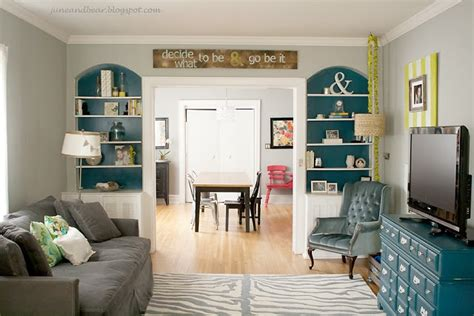 gray teal and lime living room inside home