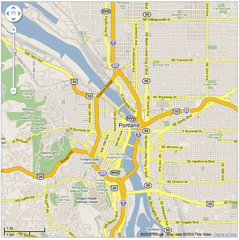 interactive map of oregon portland map maktu