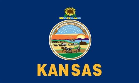 kansas state flag coloring pages state of kansas usa