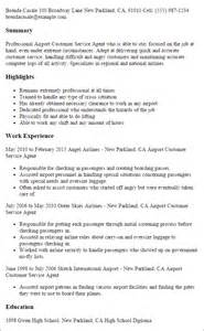 Resume Samples Airline Jobs by Professional Airport Customer Service Agent Templates To