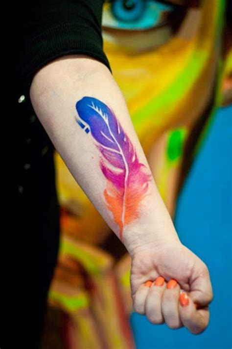 watercolor tattoo niagara 38 lovely feather designs for boys picsmine