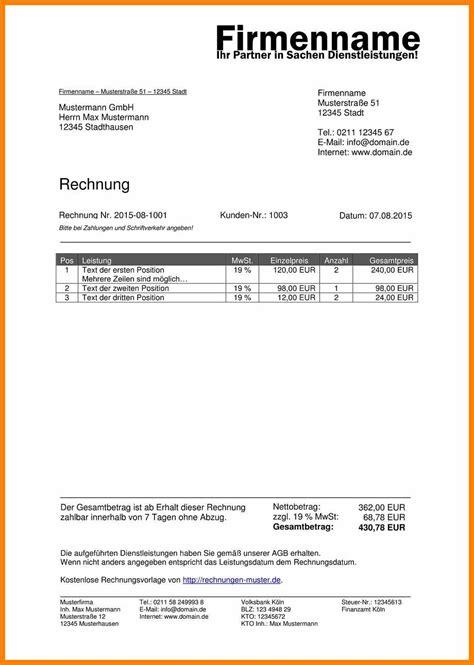 Rechnung Muster Pages 11 vorlage rechnung best enhancementhq