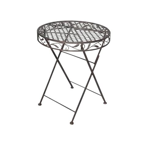 wrought iron folding table folding table wrought iron collection quot brown olivier quot