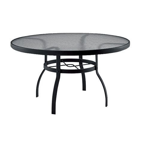 60 Patio Table Deluxe 60 Inch Glass Dining Table From Woodard Furniture