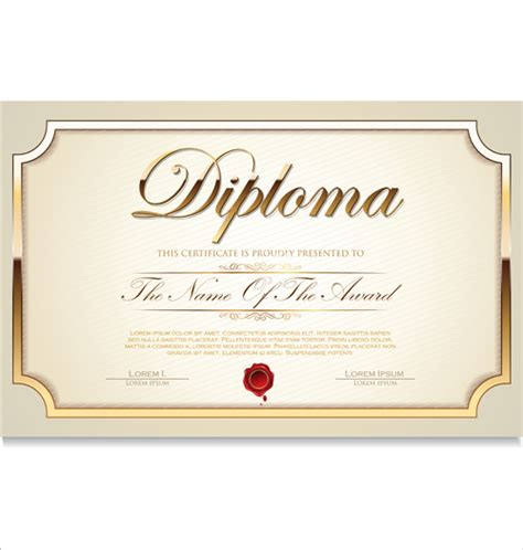 certificate templates free download vector images