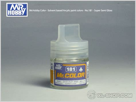 Mr Color 181 Semi Gloss Clear gunze sangyo mr hobby color solvent based arcylic paint colors no 181 semi gloss