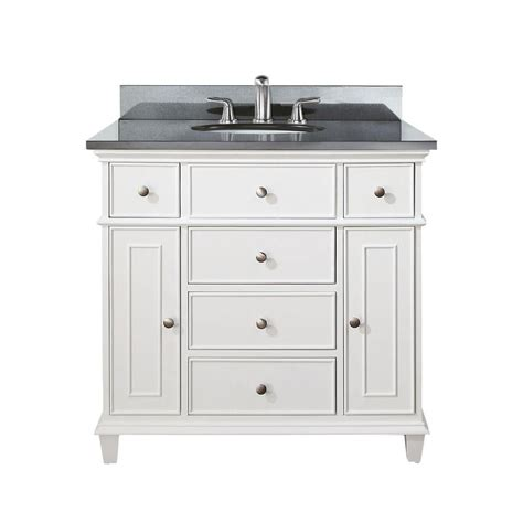 36 white bathroom vanity with top avanity windsor 36 inch vanity with black granite top and