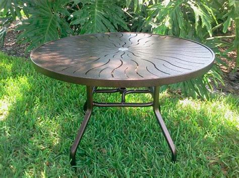 48 Inch Round Aluminum Patio Table R 48p Aluminum Pool 48 Patio Table