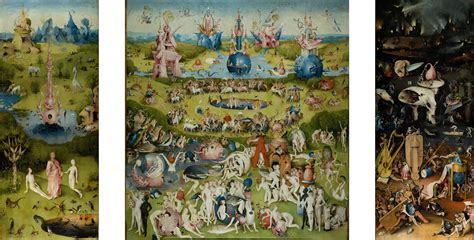 the garden of earthly delights hieronymus bosch oil on canvas circa 1490 art