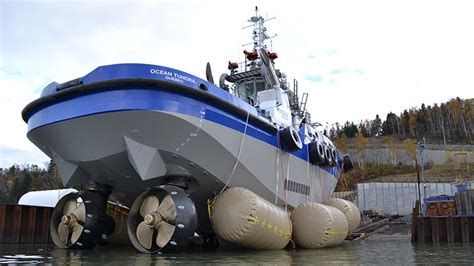 biggest tugboat in the world ocean tundra canada s most powerful tug enters service