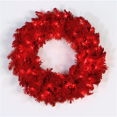 24 inch artificial flocked red christmas wreath red pre