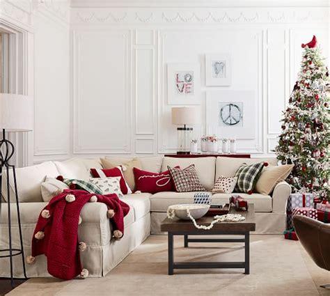 christmas sofa sale pottery barn premier sale furniture home decor holiday