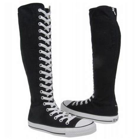 converse chuck knee high sneaker converse chuck all xx hi black zipper boots