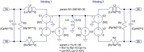 transformer parasitic inductance transformers ltwiki wiki for ltspice