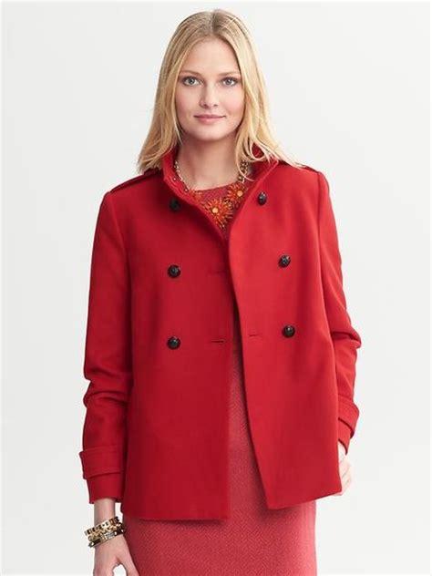 short swing coat banana republic short swing coat in red saucy red lyst