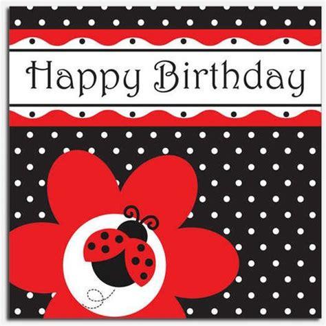 free printable birthday cards ladybugs ladybug fancy birthday luncheon napkins