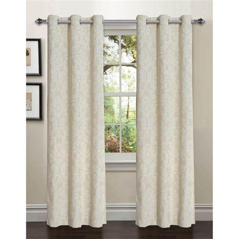 Curtain L 4 window elements semi opaque elinor linen blend jacquard 84 in l grommet curtain panel pair