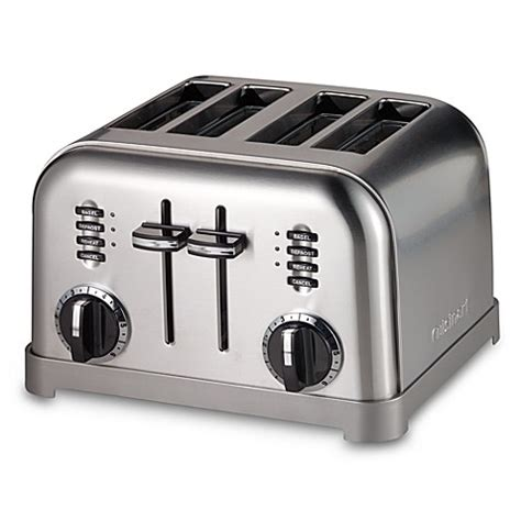 toaster bed bath and beyond cuisinart 174 metal classic 4 slice toaster bed bath beyond