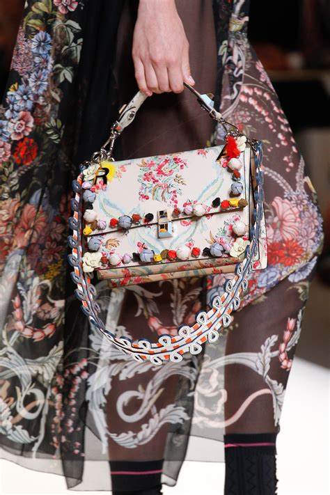 Gucci Floral White Pattern 2017 fendi summer 2017 runway bag collection spotted