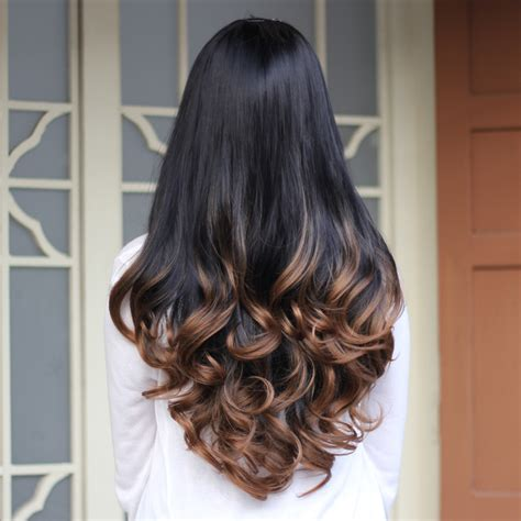 ombre hair color fro african american women the gallery for gt dark red to black ombre hair