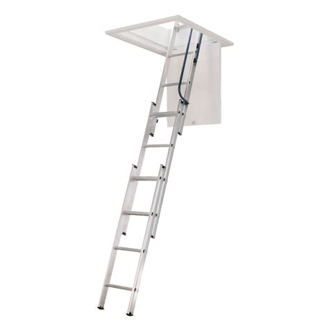 three section ladders three section loft ladder with free pole and loft catch