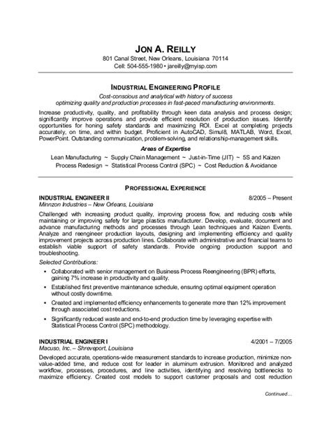 Industrial Resume Examples by