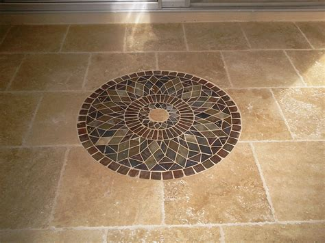 Floor Design: Interesting Octagon Light Cream Mosaic