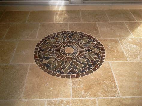 Floor Design: Interesting Octagon Light Cream Mosaic