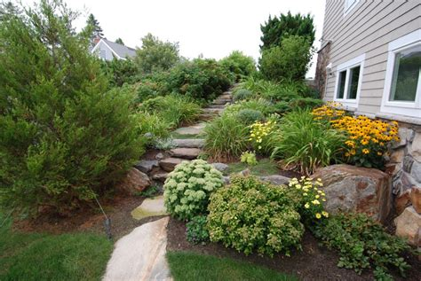 Maine Home Garden Design Maylands Landscaping Project Cape Elizabeth Maine By Ted
