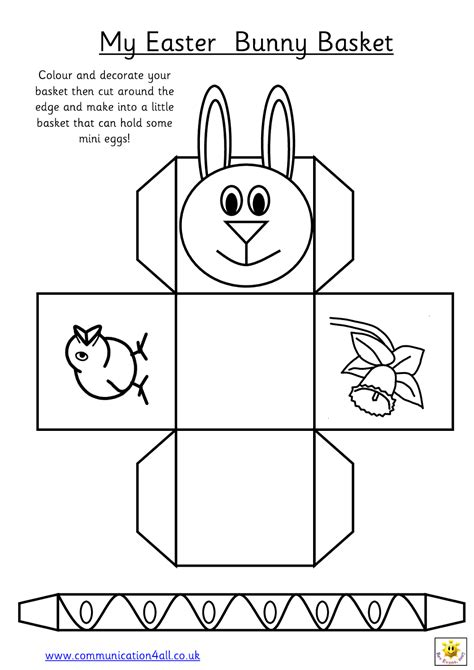 printable paper easter egg baskets early play templates want to make a simple easter basket