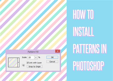 photoshop pattern how to install tutorial time how to install patterns in photoshop